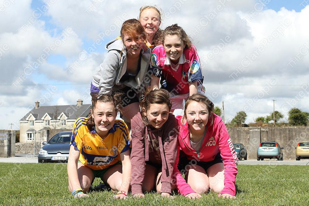 Top: Caoimhe Carmody - Middle: Aoife Moloney & Robyn Conway -  Bottom: Alana Ryan, Eimear Cavanagh & Fiona Hayes. Photograph by Flann Howard
