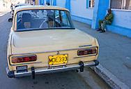 Russian car in Cardenas, Matanzas, Cuba.