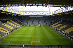 DORTMUND, GERMANY - Wednesday, April 6, 2016: A general view of Borussia Dortmund's Westfalenstadion ahead of Liverpool's training session before the UEFA Europa League Quarter-Final 1st Leg match. (Pic by David Rawcliffe/Propaganda)