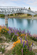 Lake Tekapo's new footbridge, New Zealand