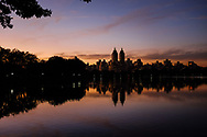 The twin towers of the El Dorado apartment building seen over the Reservoir in Central Park, Sept. 26, 2017.