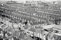 Victorian terraced houses, New Basford, Nottingham UK 1985