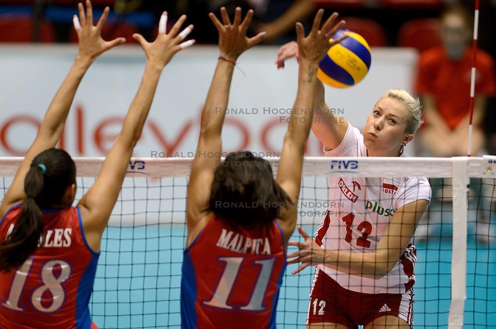 09-08-2014 NED: FIVB Grand Prix Puerto Rico - Polen, Doetinchem<br /> Izabela Kowalinska