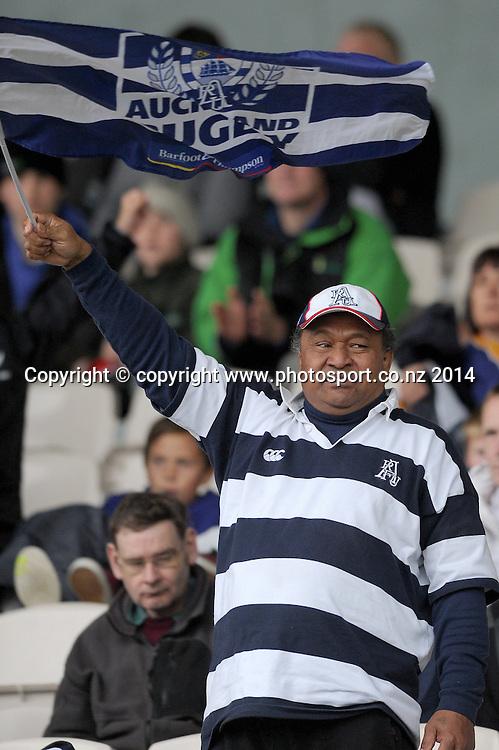 An Auckland fan in the ITM Cup rugby match, Bay of Plenty vs Auckland, Rotorua International Stadium, Rotorua, September 13, 2014. Photo: Kerry Marshall / photosport.co.nz