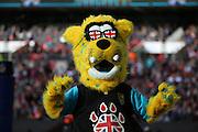 Jacksonvile Jaguars mascot during the Buffalo Bills v Jacksonville Jaguars NFL International Series match at Wembley Stadium, London, England on 25 October 2015. Photo by Matthew Redman.