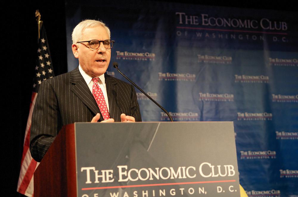 Mr. JW Marriott speaks at a luncheon for the Economic Club of Washington at the Ritz Carlton Washington DC