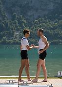 Aiguebelette, FRANCE.  left. GER LM1X. Jost SCHOEMANN and right  GER LM1X Daniel LAWWITZKE. Sunday, B Finals at the  .  10:51:06  Sunday  22/06/2014. [Mandatory Credit; Peter Spurrier/Intersport-images]