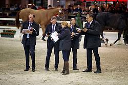 Jury, De Smet Stefaan, Bode Herman, Van den Broeck Herman, Heylen, Tom, Meurrens Inge<br /> Hengstenkeuring BWP - Lier 2018<br /> © Hippo Foto - Dirk Caremans<br /> 18/01/2018