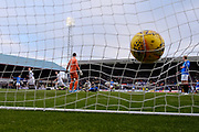 9th December 2018, Dens Park, Dundee, Scotland; Ladbrokes Premiership football, Dundee versus Rangers; Kenny Miller of Dundee celebrates as the ball hits the back of the Rangers net