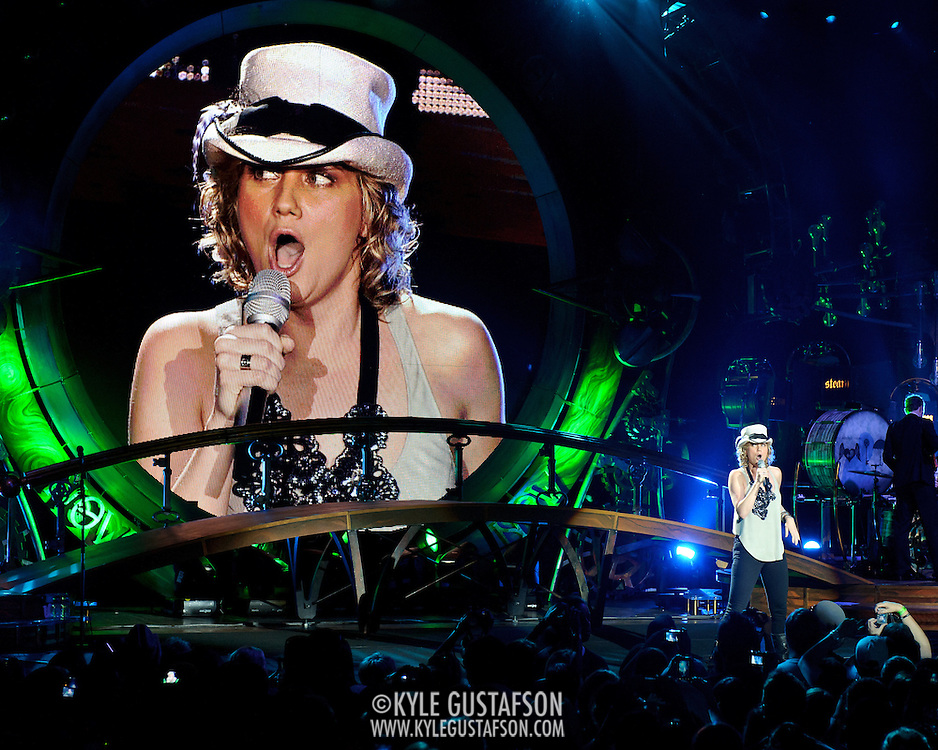 COLUMBIA, MD - May 22nd, 2011: Jennifer Nettles of Sugarland performs at Merriweather Post Pavilion. The band released their fourth album, The Incredible Machine, in October of 2010. (Photo by Kyle Gustafson/For The Washington Post)