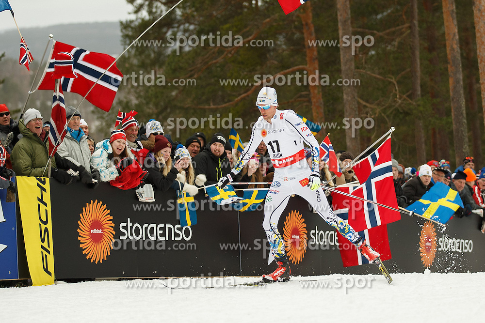 25.02.2015, Lugnet Ski Stadium, Falun, SWE, FIS Weltmeisterschaften Ski Nordisch, Falun 2015, Langlauf, Herren, 15km, im Bild JOHAN OLSSON // during the Mens 15km Cross Country Race of the FIS Nordic Ski World Championships 2015 at the Lugnet Ski Stadium in Falun, Sweden on 2015/02/25. EXPA Pictures &copy; 2015, PhotoCredit: EXPA/ Newspix/ Radoslaw Jozwiak<br /> <br /> *****ATTENTION - for AUT, SLO, CRO, SRB, BIH, MAZ, TUR, SUI, SWE only*****