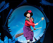 ROOM ON THE BROOM <br /> by JULIA DONALDSON and AXEL SCHEFFLER at the <br /> LYRIC THEATRE, SHAFTESBURY AVENUE, London, great Britain <br /> Press Photocall<br /> 27th November 2014 <br /> <br /> YVETTE CLUTTERBUCK as the Witch<br /> <br /> <br /> Photograph by Elliott Franks <br /> Image licensed to Elliott Franks Photography Services
