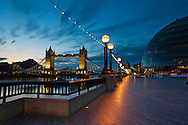 Tower Bridge and City Hall at sunrise, London, Uk