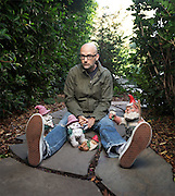 Moby with his Gnome buddies
