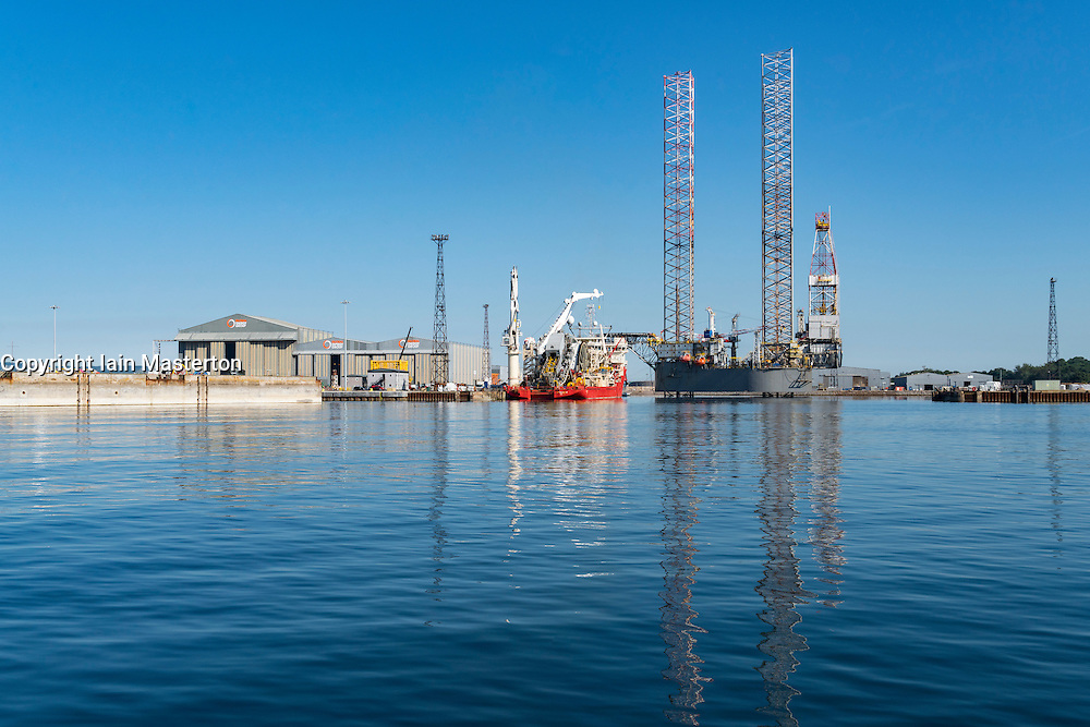 Global Energy Group's offshore fabrication and repair yard on   Cromarty Firth at Nigg in Ross and Cromarty, Highland, Scotland, United Kingdom