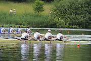 Lucerne, SWITZERLAND.  USA 4X winning the men's Quad Sculls, at the  2008 FISA World Cup Regatta, Round 2.  Lake Rotsee, on Sunday, 01/06/2008.  [Mandatory Credit:  Peter Spurrier/Intersport Images].Lucerne International Regatta..Crew Bow, Matthew HUGHES, Samuel STITT, Jameie SCHROEDER and Scott GAULT. Rowing Course, Lake Rottsee, Lucerne, SWITZERLAND.