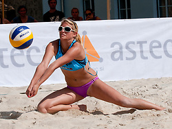 Helena Fabjan at Zavarovalnica Triglav Beach Volley Open as tournament for Slovenian national championship on July 29, 2011, in Kranj, Slovenia. (Photo by Matic Klansek Velej / Sportida)