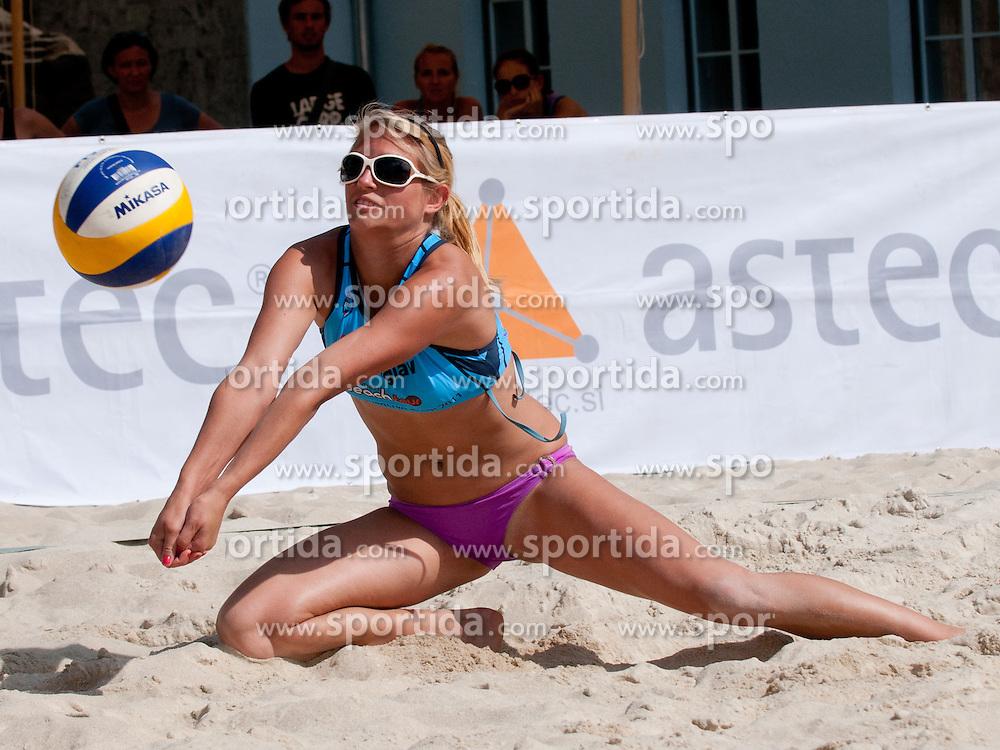 Helena Fabjan at Zavarovalnica Triglav Beach Volley Open as tournament for Slovenian national championship on July 29, 2011, in Kranj, Slovenia. (Photo by Matic Klansek Velej / Sportida)