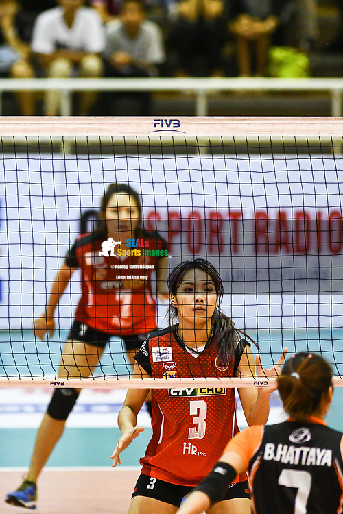 BANGKOK, THAILAND - MARCH 24: Kaewkalaya Kamulthala of Khon Kaen Star #3 looks on during the 2017 Women's Volleyball Thai-Denmark Super League, MCC Hall The Mall , Bangkok, Thailand on March 24, 2017.<br /> .<br /> .<br /> .<br /> (Photo by: Naratip Golf Srisupab/SEALs Sports Images)<br /> .<br /> Any image use must include a mandatory credit line adjacent to the content which should read: Naratip Golf Srisupab/SEALs Sports Images