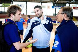 Primoz Pori, Denic Boris, Miro Pozun at practice of Slovenian Handball Women National Team, on June 3, 2009, in Arena Kodeljevo, Ljubljana, Slovenia. (Photo by Vid Ponikvar / Sportida)