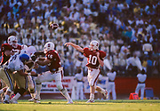 COLLEGE FOOTBALL:  Stanford vs San Jose State on September 26, 1987 at Stanford Stadium in Palo Alto, California.  Greg Ennis #10.  Photograph by David Madison ( www.davidmadison.com ).
