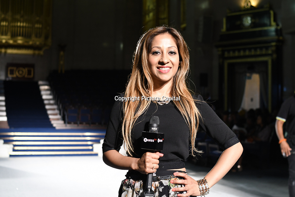 Dianne Persad presenter of Bosss TV at the the Africa Fashion Week London (AFWL) at Freemasons' Hall on 11 August 2018, London, UK.