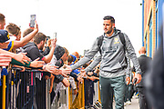 Leeds United goalkeeper Francisco Casilla (13) arrives at the ground during the EFL Sky Bet Championship match between Leeds United and Brentford at Elland Road, Leeds, England on 21 August 2019.