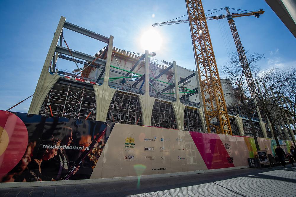 Den Haag. Bouw van het onderwijs- en cultuurcomplex aan het Spui. Foto: Gerrit de Heus