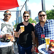 Bud & Burger judges, rugby player Perry Baker, singer Thomas Rhett, and chef David Chang attend the 2016 Budweiser Made in America Festival - Day 2 at Benjamin Franklin Parkway on September 4, 2016 in Philadelphia, Pennsylvania. (Photo by Lisa Lake/Getty Images for Anheuser-Busch)