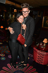 FRAN CUTLER and HENRY HOLLAND at a dinner to celebrate the launch of Genetic - Liberty Ross hosted by Liberty Ross and Ali Fatourechi at Annabel's, 44 Berkeley Square, London on 3rd September 2014.