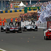 End of the Le Mans 24H 2012 race