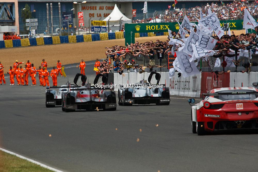 End of the Le Mans 24H 2012 race
