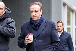 © Licensed to London News Pictures. 03/03/2017. London, UK. MARK HOLYOAKE arrives at the Royal Courts of Justice in London on 3 March 2017. Brothers Nick and Christian Candy are being sued in a dispute over a £12m loan which was used to help fund Mark Holyoake's own project at Grosvenor Gardens House in central London. Photo credit: Tolga Akmen/LNP