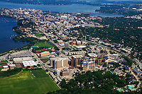 City of Madison featuring University of Wisconsin Hospital (foreground)