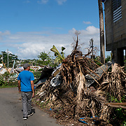 NOVEMBER 23 - TOA ALTA, PUERTO RICO - <br /> Max Ojeda, 59, walks around his badly damaged house in the Las Acerolas community.  Owed is now sheltering in his sister's house since Hurricane Maria.<br /> (Photo by Angel Valentin/FREELANCE)