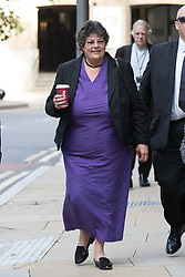 © Licensed to London News Pictures. 15/08/2017. LONDON, UK.  MARION LITTLE, Craig Mackinlay's campaign director arrives at Southwark Crown Court for a Plea and Trial Preparation Hearing (PTPH). CRAIG MACKINLAY, Conservative MP for South Thanet, MARION LITTLE, Craig Mackinlay's campaign director and NATHAN GRAY, Craig Mackinlay's election agent have each been charged with offences under the Representation of the People Act 1983.  Photo credit: Vickie Flores/LNP