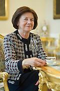 11.12.2008 Warsaw Poland Maria Kaczynska First Lady in Presidents Palace. photo Piotr Gesicki Warszawa nz Maria Kaczynska w Palacu Prezydenckim w sali bialej.Fot  Piotr Gesicki