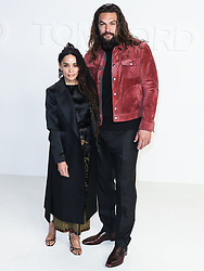 HOLLYWOOD, LOS ANGELES, CALIFORNIA, USA - FEBRUARY 07: Tom Ford: Autumn/Winter 2020 Fashion Show held at Milk Studios on February 7, 2020 in Hollywood, Los Angeles, California, United States. 07 Feb 2020 Pictured: Lisa Bonet, Jason Momoa. Photo credit: Xavier Collin/Image Press Agency/MEGA TheMegaAgency.com +1 888 505 6342