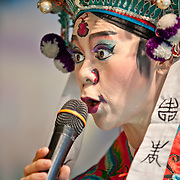 Taiwanese Opera performance, Lord of the Great Marsh Temple, Old Five Channels Cultural Area, Tainan City, Taiwan