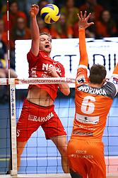 20160402 BEL: Volleybal: Volley Lindemans Asse Lennik - Noliko Maaseik, Zellik  <br />Jelte Maan