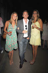 Left to right, KRISSIE DUCKER, RORY STIRLING and EMMA BLACKMORE at a Summer BBQ for Kitts nightclub hosted by Chalie Gilkes and Duncan Stirling at the Hurlingham Club, London on 31st August 2007.<br /><br />NON EXCLUSIVE - WORLD RIGHTS