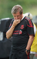 ZUG, SWITZERLAND - Wednesday, July 21, 2010: Liverpool's manager Roy Hodgson during the Reds' first preseason match of the 2010/2011 season against Grasshopper Club Zurich at the Herti Stadium. (Pic by David Rawcliffe/Propaganda)