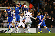 Christian Eriksen of Tottenham Hotspur takes a free kick during the UEFA Europa League match at White Hart Lane, London<br /> Picture by David Horn/Focus Images Ltd +44 7545 970036<br /> 27/02/2014
