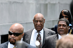 Norristown, PA., USA - May 24, 2016; Bill Cosby departs after he learned at a preliminary hearing at Montgomery County Courthouse, in Norristown, PA, that the sexual assault case against him will move forward to trail.