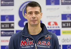 Assistant coach Dragan Kobiljski at press conference of volleyball club ACH Volley before new season 2010/2011, on November 5, 2010, in Ljubljana, Slovenia. (Photo by Vid Ponikvar / Sportida)