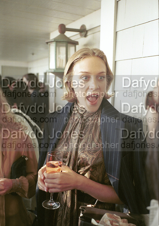 Chloe Sevigny. Boy's Don't Cry party. Pedals at Shutters on the Beach. Santa Monica. 25 March 2000 © Copyright Photograph by Dafydd Jones 66 Stockwell Park Rd. London SW9 0DA Tel 020 7733 0108 www.dafjones.com