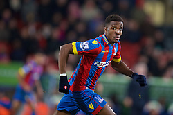 LONDON, ENGLAND - Saturday, February 14, 2015: Crystal Palace's Wilfried Zaha in action against Liverpool during the FA Cup 5th Round match at Selhurst Park. (Pic by David Rawcliffe/Propaganda)