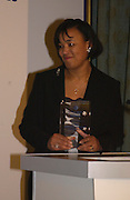 Baroness Scotland, Political Studies Association Awards 2004. Institute of Directors, Pall Mall. London SW1. 30 November 2004.  ONE TIME USE ONLY - DO NOT ARCHIVE  © Copyright Photograph by Dafydd Jones 66 Stockwell Park Rd. London SW9 0DA Tel 020 7733 0108 www.dafjones.com