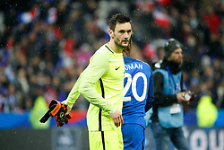 29.03.2016, Stade de France, St. Denis, FRA, Testspiel, Frankreich vs Russland, im Bild lloris hugo // during the International Friendly Football Match between France and Russia at the Stade de France in St. Denis, France on 2016/03/29. EXPA Pictures © 2016, PhotoCredit: EXPA/ Pressesports/ Sebastian Boue<br /> <br /> *****ATTENTION - for AUT, SLO, CRO, SRB, BIH, MAZ, POL only*****