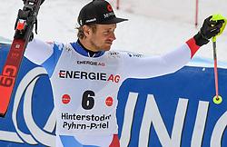 26.10.2019, Hannes Trinkl Weltcupstrecke, Hinterstoder, AUT, FIS Weltcup Ski Alpin, Alpine Kombination, Herren, Siegerehrung, im Bild Mauro Caviezel (SUI), zweiter Platz // Mauro Caviezel of Switzerland second Place during the winner ceremony for the men's Alpine combined of FIS ski alpine world cup at the Hannes Trinkl Weltcupstrecke in Hinterstoder, Austria on 2019/10/26. EXPA Pictures © 2020, PhotoCredit: EXPA/ Erich Spiess